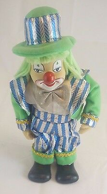 Vintage Clown Musical Windup Music Box Rotating Head Moving Arms