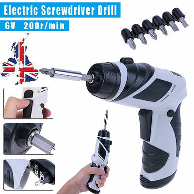 Metal 6V Electric Screwdriver Mini Electric Drill Battery Operated Household Set