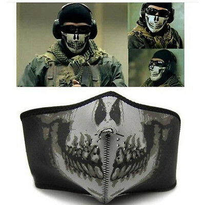 Dustproof Face Mask Riding Skull CS Game Cycling Bike Shield Cap Protector 1/2Pc