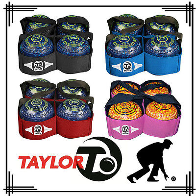 Taylor Lawn Bowls Bowling 4 Sling Carry Bag Carrier Bags Black Blue Pink Red UK