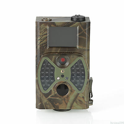 Hunting Camera 12MP 1080P HD Infrared Black Game Trail Cam Night Vision Portable