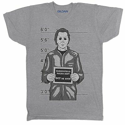 Michael Myers Halloween Horror Movie Film 90S Retro Classic Grey T Shirt