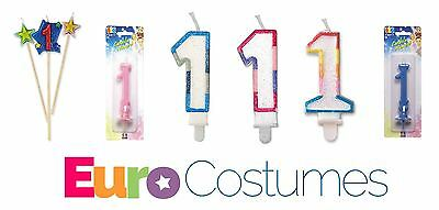 Number 1 1st Candles 12 Designs Birthday Cake Topper Decoration Party
