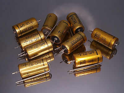 [10pcs] Roederstein EB 100uF 25V ERO ROE electrolytic capacitors Golden Bullets