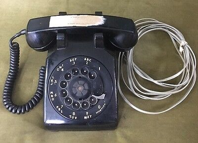 Vintage Black Bell Systems Western Electric Rotary Telephone 500 C/D Metal Dial