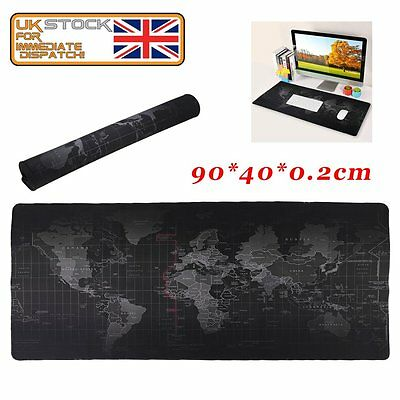 Laptop 90X40CM Non-slip Rubber Gaming Mouse Mat Pad For PC Keyboard Big Size SA