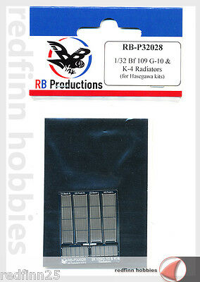 RB Productions Messerschmitt Bf 109 G-10 and K-4 radiators  1/32
