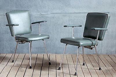 1x Vintage Retro MidCentury Gispen Style Office Desk Cocktail Lounge Easy Chairs