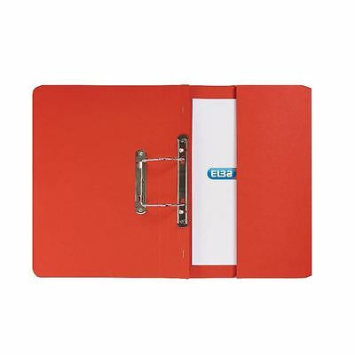 Elba Strongline Foolscap Red Spring Pocket File Pack of 25 100090278 [BX70758]