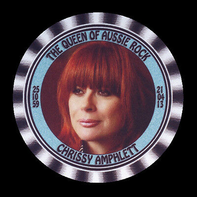 4 x CHRISSY AMPHLETT - THE QUEEN OF AUSSIE ROCK - TRIBUTE - DRINK COASTERS