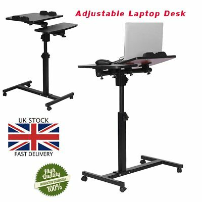 Height Adjustable Laptop Desk Cart Bed Hospital Rolling Notebook Table Stand SA