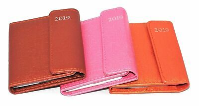 2019 Pocket Diary, Week to View Leather Organiser Appointment Office Desk Diary