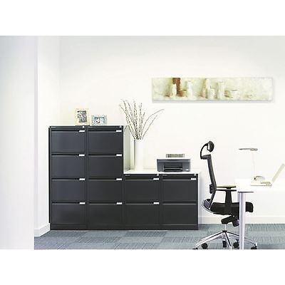 Bisley Black Two-Drawer Filing Cabinet BS2E Black [BY00495]