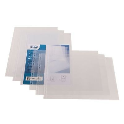 Elba A3 Landscape Clear Polypropylene Punched Pocket Pack of 100  [BX203708]