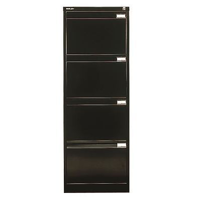 Bisley Black Four-Drawer Filing Cabinet BS4E Black [BY00564]