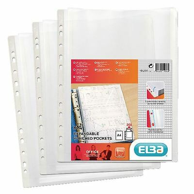 Elba A4 Clear Expanding Punched Pockets Pack of 10 100080753 [BX46819]