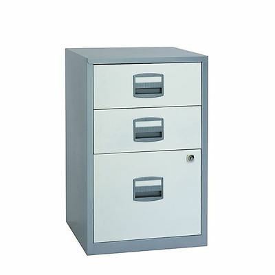 Bisley Silver and A4 White 3 Drawer Home Filer BY00587 [BY00587]