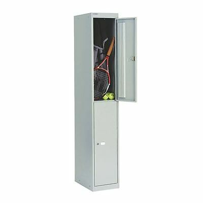 Bisley Goose Grey 2 Door Locker W305xD457xH1802mm BY09216 [BY09216]