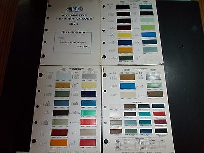 1971 Ford Motor Company Dupont Paint Chip Samples Ford Lincoln Mercury