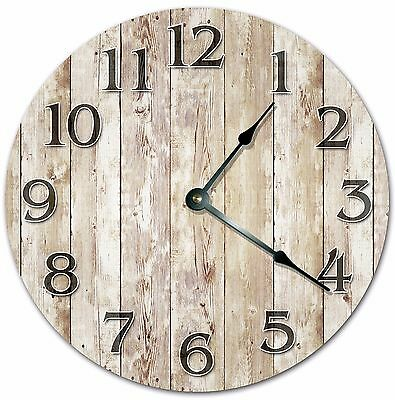"10.5"" OLD WOOD BOARDS CLOCK - FARMHOUSE CLOCK - Large 10.5"" Wall Clock - 4017"