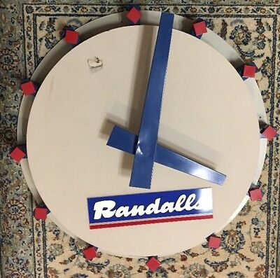3 Ft Round Custom Wooden Randall's Grocery Clock