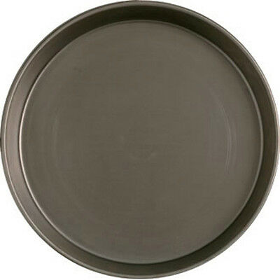12'' Base Deep Pan Pizza Pans Black Iron/mild Steel -- Trade Supplied