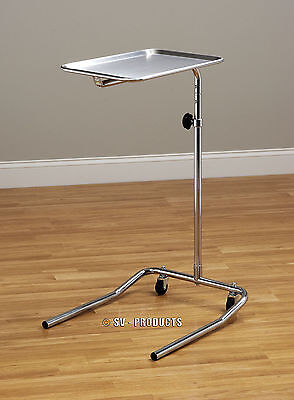 Mobile Mayo Medical Instrument Stand with Removable Stainless Steel Tray - 221
