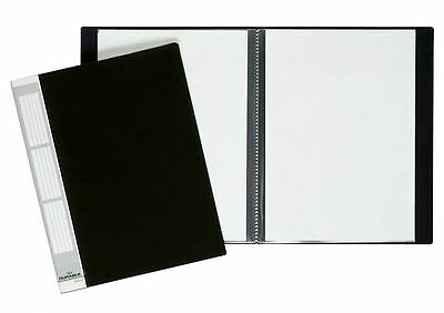 Durable 242201 DURALOOK DISPLAY BOOK, with 20 Pockets, Black - Pack of 5