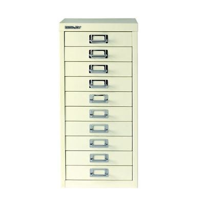 Bisley Multi-Drawer Cabinet A4 10 Drawer Chalk White BY19660 [BY19660]