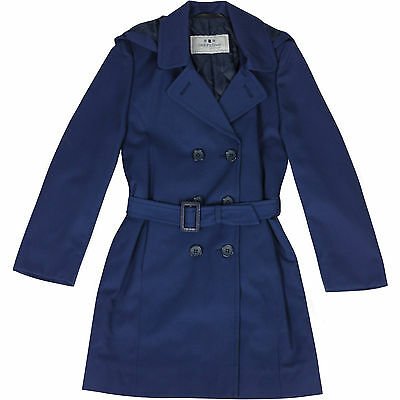 New Girls Long Trench Coat Hooded Double Breasted Quilted Button Up Kids Jacket