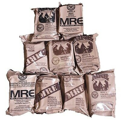 Original Us Mre 37 Menüs Meal Ready To Eat Army Food Bw Epa Notration Menü