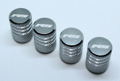 4x Valve Cap for FORD Aluminium Dust Caps for RS/Std Line Brand New Grey Check