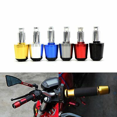 7/8'' Motorcycle Handle Handlebar Grips Bar End Cap Plugs Slider CNC Aluminum