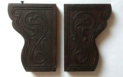 Antique Victorian Scroll Wood Trim Corbels Architectural Salvage Wooden