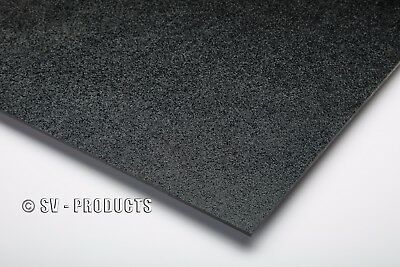 "ABS Plastic Sheet Black Vacuum Forming 1/8"" Thick 12"" x 24"" - 251d"