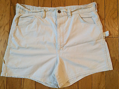 "RARE VINTAGE 1960's BIG YANK UNION MADE DENIM PAINTER PANTS SHORTS 34"" WAIST"