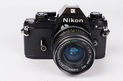 Nikon EM Black + Auto Super-Paragon 35mm 1:2.8 - New seals