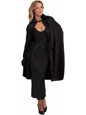 "Adult Black 45"" Phantom Vampire Magician Costume Cape"