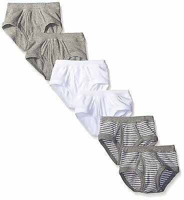Burt's Bees Toddler Boys' Set of 6 Organic Multi Briefs, Assorted Colors