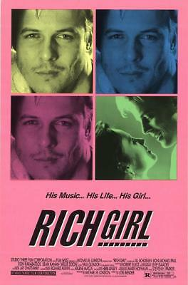 "RICH GIRL - 27""x40"" Original Movie Poster One Sheet 1991 Rolled"