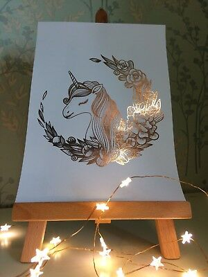 Unicorn - Real Foil Art Work - Fantasy - Many Colours