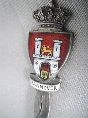 Hannover ~ Hoftheater * Emboss & Enamel Antique Travel Spoon