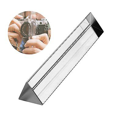 "Spectrum Crystal Triangular Prism 6"" Optical Glass for Photography or Teaching"