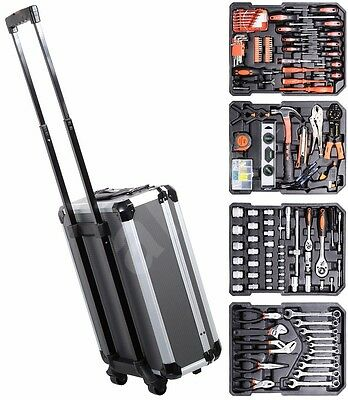 High Quality Tool Work Fixed Complete Suitcase Trolley Set 186 Pieces ALU PREMIU