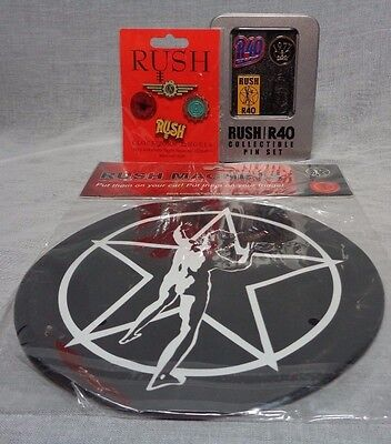 rush gift set of collectible pins and magnets limited edition hard rock prog