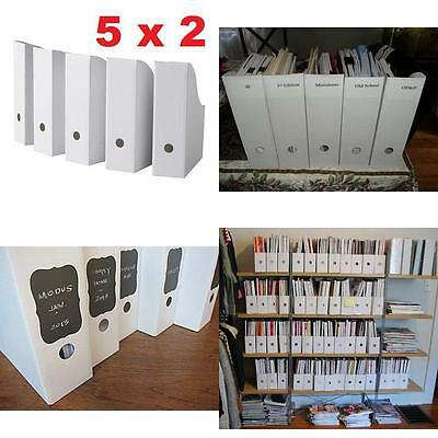 Magazine File Papers Holders Storage Boxes Organizer Office School Supplies