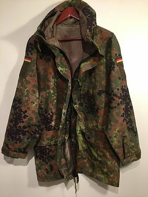 German Army Flectarn Gore-Tex Waterproof Combat Hooded Parka Size Men's Large 44