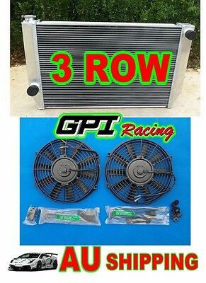 3ROW  Radiator for FORD Falcon XC XD XE XF V8 or 6 cylinder Manual + FAN