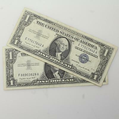 1957 $2 Dollar Bill Silver Certificate Currency Blue Seal Note