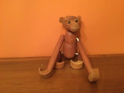Vintage Danish Modern Japanese Teakwood Monkey Wooden Toy Eames Era